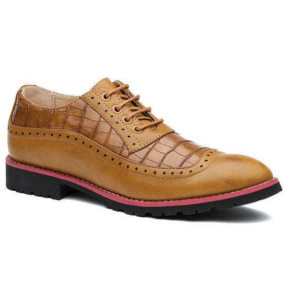 Medallion Leather Shoes