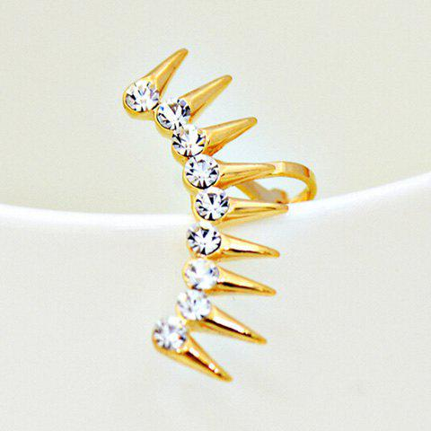 ONE PIECE strass alliage Rivets Ear Cuff - Or