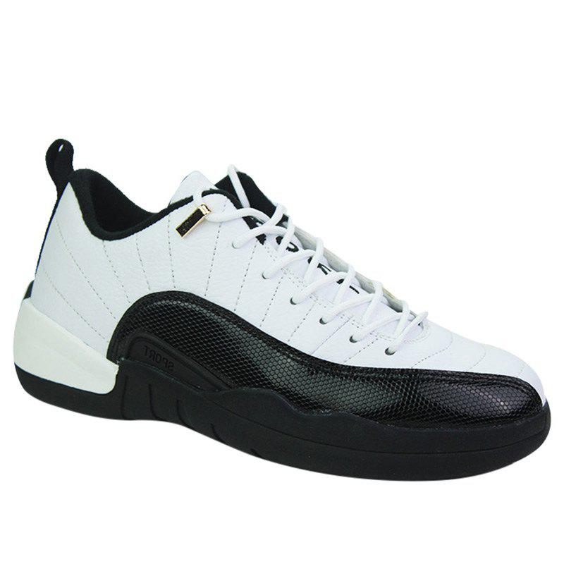 Color Block Stitching Sports Shoes - WHITE 43