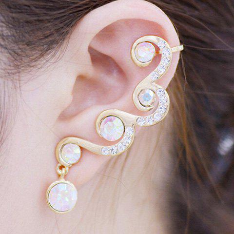 ONE PIECE strass alliage d'oreille - Or
