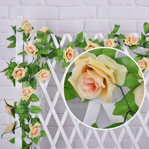 Wall Decor Wedding Party Fake Rose Rattan Artificial Flower - CHAMPAGNE GOLD