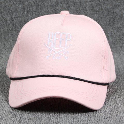 Hip Hop Drawstring Decorated Letter and Sabre Embroidery Baseball Hat - PINK bd4edcbf9f2d