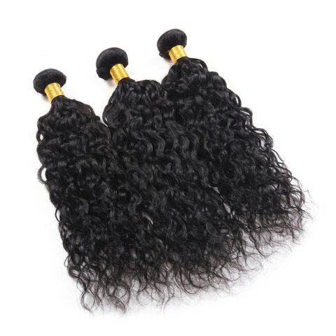 6A Virgin Hair Fluffy Natural Curly 1 Pcs/Lot Brazilian Human Hair Weaves - BLACK 14INCH