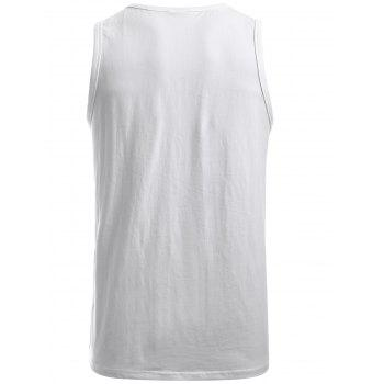 Tank Top Solid Color Cotton - Blanc S