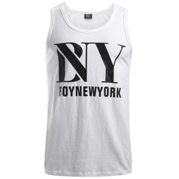 BoyNewYork Solid Color Cotton Tank Top