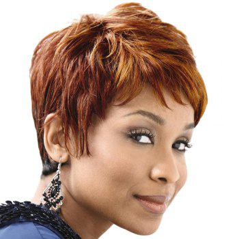 Virile Short Capless Straight Side Bang Human Hair Wig