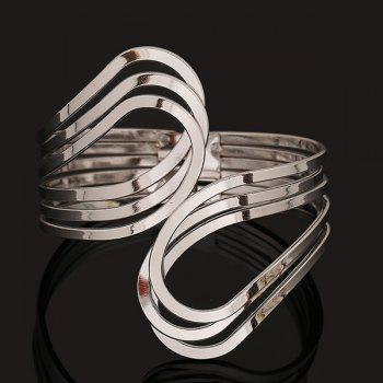 Three Layer Encircle Statement Cuff Bracelet