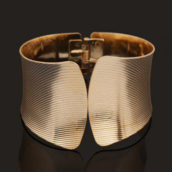 Alloy Spring Stripe Polishing Cuff Bracelet