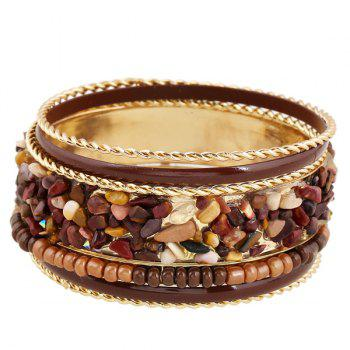 Detachable Bead Gravel Embellished Multilayer Bracelet