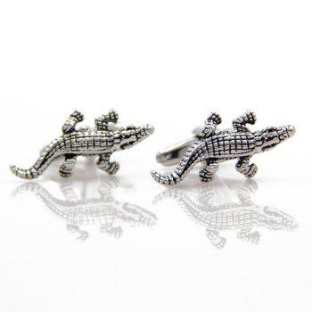 Concise Crocodile Shape Cufflinks