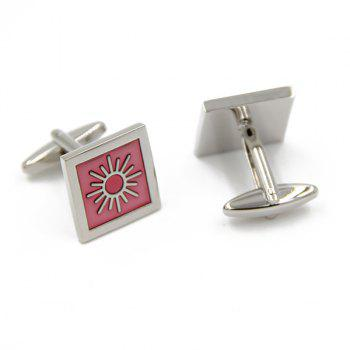 Concise Square Weather Design Cufflinks - PINK