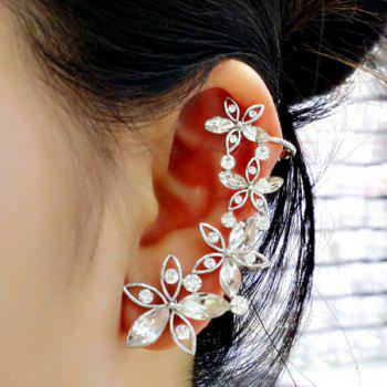 ONE PIECE Artificial Crystal Blossom Ear Cuff