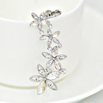 ONE PIECE Artificial Crystal Blossom Ear Cuff - SILVER