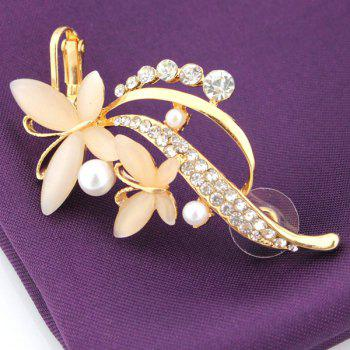 ONE PIECE Faux Pearl Rhinestone Butterfly Ear Cuff