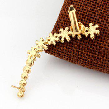 ONE PIECE Floral Rhinestoned Ear Cuff - GOLDEN