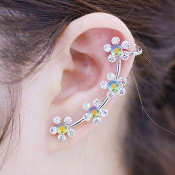ONE PIECE Artificial Crystal Floral Ear Cuff