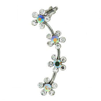 ONE PIECE Artificial Crystal Floral Ear Cuff - SILVER
