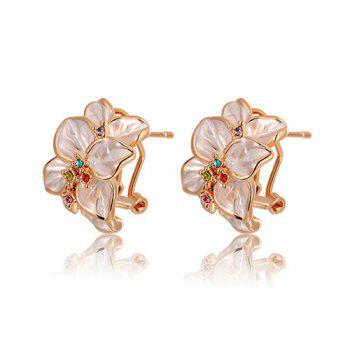Pair of Alloy Flower Earrings
