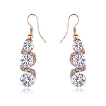 Spiral Tiered Rhinestone Drop Earrings
