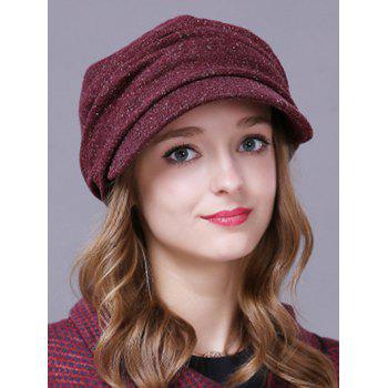 Winter Casual Pleated Relaxed Fit Newsboy Cap