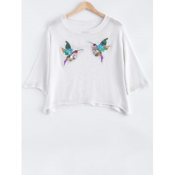 Bird Embroidered Sequined Knitwear