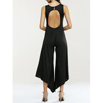 Hollow Out Sleeveless Asymmetrical Jumpsuit