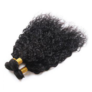 6A Virgin Hair Fluffy Natural Curly 1 Pcs/Lot Brazilian Human Hair Weaves - BLACK 16INCH