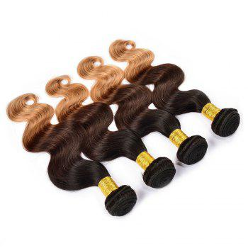 1 Pcs/Lot 6A Virgin Brazilian Hair Fluffy Body Wave Ombre Color Hair Weaves - 16INCH 16INCH