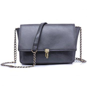 Metallic Flap Crossbody Bag