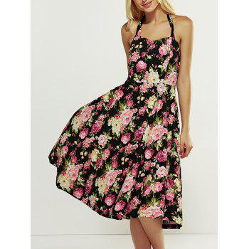 Halter Floral Backless Summer Dress