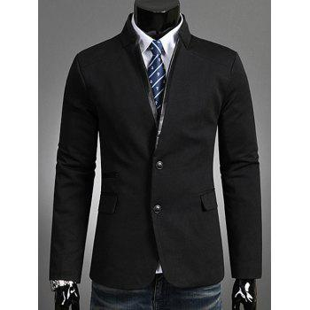 Stand Collar Single Breasted Blazer