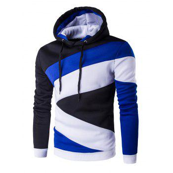 Casual Long Sleeves Spliced Hoodie