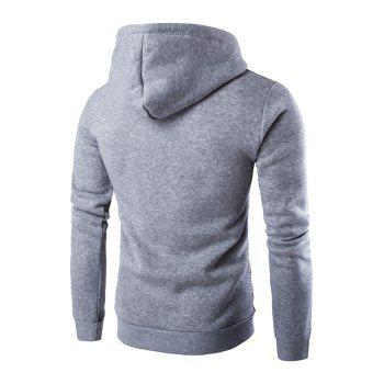 Long Sleeves Stripe Printed Hoodie - LIGHT GRAY 2XL