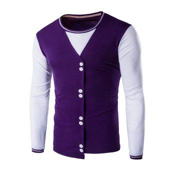 Buttons Design Casual Long Sleeves T-Shirt