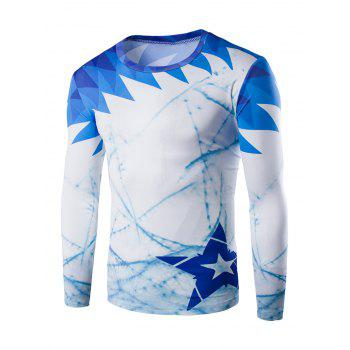 Round Neck Long Sleeves Slim Fit T-Shirt
