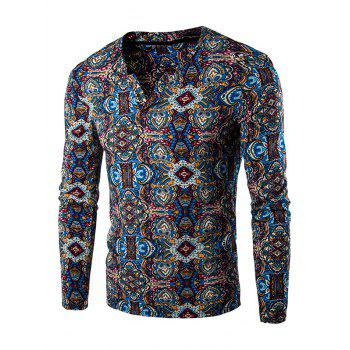 Totem Print Long Sleeves Tee