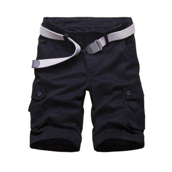 Poches multi Shorts Zipper Fly Cargo