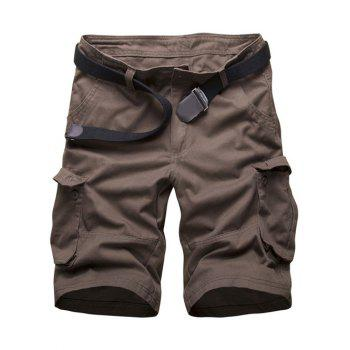 Multi Pockets Zipper Fly Cargo Shorts