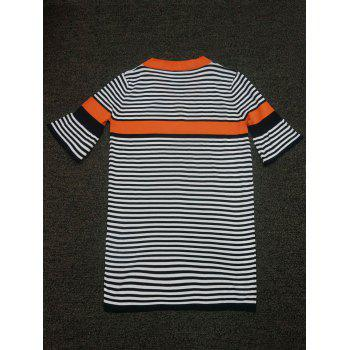 Bell a manches Color Block Dress Striped - Orange ONE SIZE