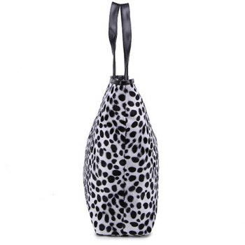 Leopard Print Suede Tote Bag - YELLOW