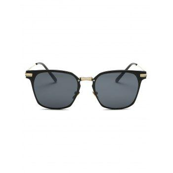 Street Full-Rim Metallic Leg Butterfly Sunglasses - BLACK