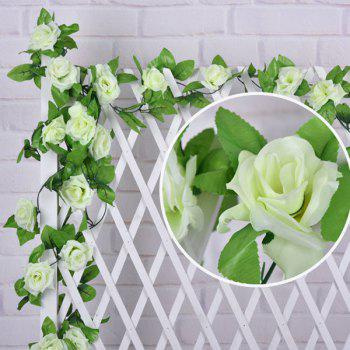 Wall Decor Wedding Party Fake Rose Rattan Artificial Flower