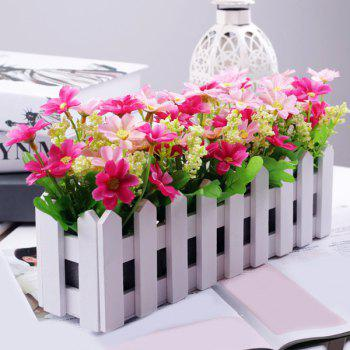 Home Decor Bonsai 30CM Stockade Pot Artificial Flower Set - PINK PINK