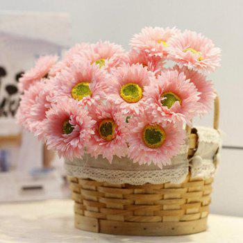 1 Bunch of Home Decor Fake Daisy Artificial Flowers - PEACH RED PEACH RED