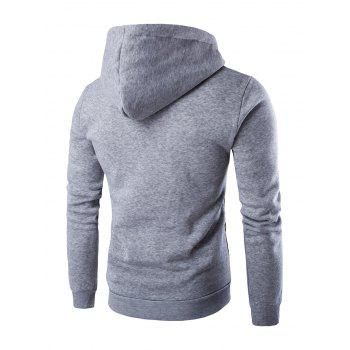 Ethnic Style Long Sleeves Printed Hoodie - LIGHT GRAY 2XL