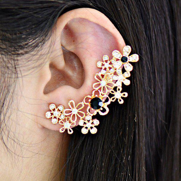 ONE PIECE Blossom Rhinestoned Ear Cuff - GOLDEN