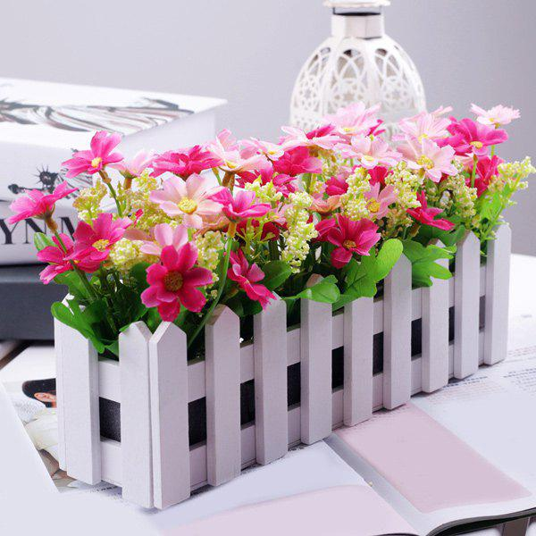 Home Decor Bonsai 30CM Stockade Pot Artificial Flower Set - PINK