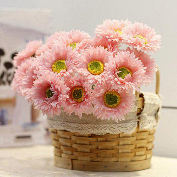 1 Bunch of Home Decor Fake Daisy Artificial Flowers - PEACH RED