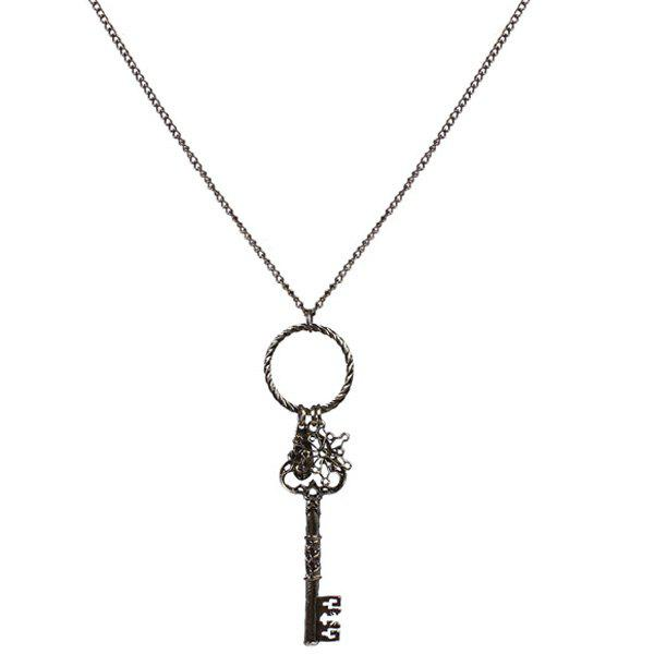 Vintage Carving Key Sweater Chain - COLORMIX
