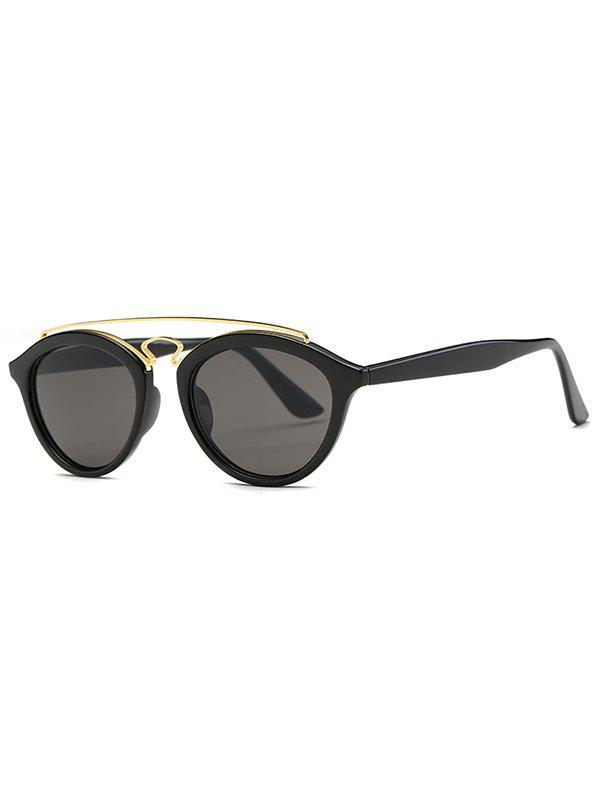 Street Metallic Crossbar Trendsetter Sunglasses - BLACK